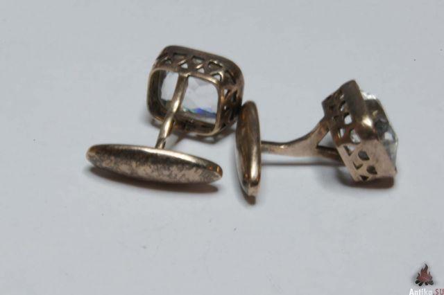 Запонки с горным хрусталем царские монеты елизавета 2